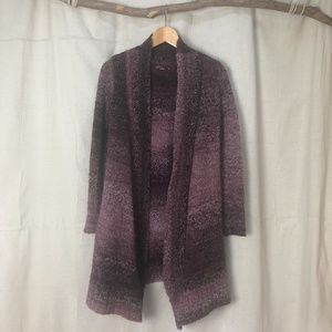 Prana Purple Ombre Open Front Long Cardigan